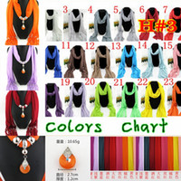 Wholesale Offer Scarf - 2015 Special Offer Sale LONG SCARFS jewelry Pendant Scarf Jewelry with Beads Mixed Color 54pcs Scarves Charms Cross Necklace Dhl shipping