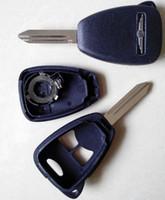 Wholesale Blank Car Keys Dodge - original quality car key chrysler 2+1 button remote key blank shell 3 button remote case for chrysler Dodge Jeep free shipping