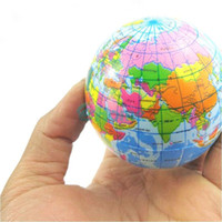 Wholesale World Ball Toy - World Atlas Geography Map Earth Globe Stress Relief Bouncy Foam Ball Kids Toy#57602