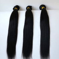 Wholesale 32 Hair Shedding - 100% Virgin Human Hair Unprocessed Straight Hair Weft Remy Hair Natural Color 8-34 inch Customize Length Shedding 6