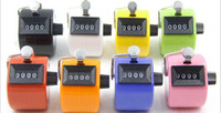 Wholesale hand held number counter resale online - New Digital Hand Held Tally Clicker Counter Digit Number Clicker Golf Chrome