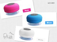 Wholesale shower car - Fashion Bluetooth Speaker Waterproof Wireless Shower Handsfree Mic Suction Chuck Speaker Car Speaker Portable mini MP3 Super Bass Receive