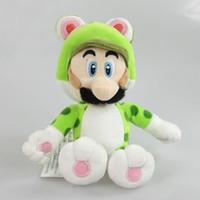 "Wholesale Kids Mario Coat - 19cm Super Mario Bros. 3D 9"" Cat luigi Stuffed Animal Plush Toy doll for kids gift"
