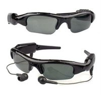 Wholesale Sunglasses Mp3 Player Camera - Mini DVR Sunglasses Video Camera Headset Recorder MP3 Player Function