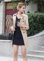 Wholesale European Coats Women - New women coat, European fashion Slim plus size trench coats, Hot long women coat