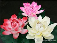 ingrosso serbatoio di loto-28 cm diametro elegante fiore di loto artificiale piscina di acqua serbatoio di pesce decor piante forniture artigianali per la festa nuziale decorazioni per la casa