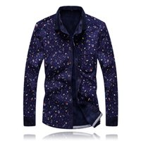 Wholesale Mens Add Jackets - Wholesale-Mens Shirt warm cashmere with fashion men's shirts thickened long sleeved printing shirt jacket autumn add wool shirt newest