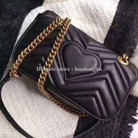 Wholesale cross body bags resale online - Genuine leather Serial number Women Bag Brand designer marmont luxury fashion high quality woman handbag sale promotional