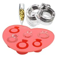 Wholesale Ice Cube Love Rings - Ice Tray Diamond Love Ring Ice Cube Style Freeze Ice Mold Ice Maker Mould PTSP