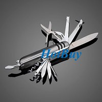 Wholesale Swiss 11 - 11 in1 Multifunction Swiss Style Pocket Army Knife Camping Outdoor Survival Tool #3730