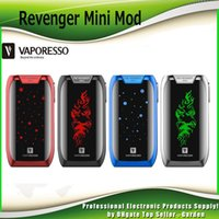 Wholesale Led Battery Box - Original Vaporesso Revenger Mini 85W Box Mod Built-in 2500mAh Battery TC Ecig Vape Mods with LED Light 100% Authentic