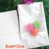 sacos de transporte à prova de umidade venda por atacado-8 * 12 cm 200 pçs / lote frete grátis claro + branco Top Aberta Heat-seal saco de plástico bolsa Para bolsa de jóias Moisture-proof Embalagem