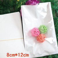 Wholesale top open clear plastic bag resale online - 8 cm clear white Top Opened Heat seal plastic Bag pouch For jewelry pouch Moisture proof Packaging