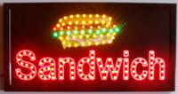 Wholesale Flash Billboard - 2015 Super Bright LED Neon Light Animated LED SANDWICHES Billboard flashing in semi-outdoor size 55cm*33cm