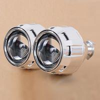 Wholesale Car Kit Hid Bi Xenon - bi xenon 2.5'' Pro HID Bi xenon Projector Headlight Lens H1 H4 H7 LHD RHD,Use H1 Xenon Bulb Car Styling
