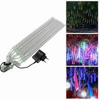 Wholesale snowfall tube lights - 20CM 30CM 50CM Meteor Christmas lights Outdoor decoration waterproof Blue White RGB Snowfall Rain LED Shower Light Tubes