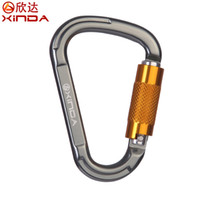 Wholesale Rock Equipment - Wholesale-XINDA Professional Pear Shape Automatic Safety Buckle Rock Climbing Carabiners Master Lock Quickdraw Outdoor Climbing Equipment