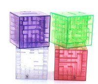 Wholesale Maze Puzzle Box - 2016 MONEY MAZE coin box puzzle gift game prize saving bank educational toys Science & Discovery Free shipping