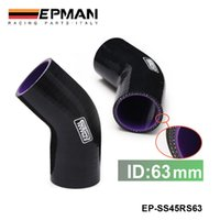 "Wholesale 45 Degree Silicone Coupler - EPMAN 2.5"" 45 Degree 3PLY Silicone Elbow Hose Coupler 63mm Intercooler Pipe Turbo,Black EP-SS45RS63"