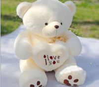 ingrosso grande orso di orsacchiotto valentines day-2016 hot new Beige Giant Big Plush Teddy Bear regalo morbido per il giorno di San Valentino compleanno