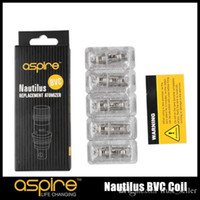 Wholesale Aspire Coils - 100% Original Aspire Nautilus BVC Coil 0.7 1.6 1.8 Ohm Bottom Vertical Coils for Nautilus Mini 2 BVC Atomizers