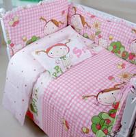 Wholesale Cheap Children Comforters - 10 PCS Cheap Toddler Bedding Set Baby Cot Bumper Sets,100% Cotton Children Crib Bedding Pillow Set,Comforter Set Bedding Kids