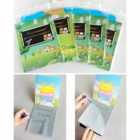 Wholesale Erasers Note - Environmental Protection Wordpad Portable MINI Magic Notepad Message Book Office Work Notes Book easy to clear the words no need eraser 50pc