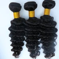 Wholesale Mixed Length Virgin Cambodian - Brazilian Hair Weaves Virgin Human Hair Extensions Deep wave 8~34inch Peruvian Malaysian Indian Cambodian Human Hair Weft 8A Great Quality