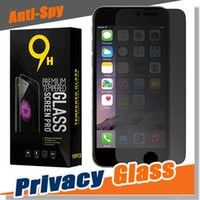 Wholesale Shield For Iphone 4s - Privacy Tempered Glass Screen Protector Anti-Spy Shield 9H Hardness Real Premium Film For iPhone X 8 7 Plus 6 6S 5S 5 4S 4 With Package
