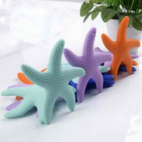 Wholesale Start Toys - Silicone Starfish Baby Molar Rod Chilld Chew Toys Bright Starts Teether Beads Kid's Molar Teeth Stick Safe Healthy Comforter Toys BPA Free