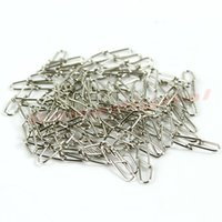 Wholesale Tracking Stainless Steel - Free Shipping 1Pack 100pcs Stainless Steel Diamond Snap Hook Lure Connector For Fishing order<$18no track
