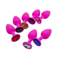 Wholesale Colorful Butt Plugs - RomeoNight Silicone Smooth Touch Anal Toys w  Colorful Diamond Butt Plug Insert Stopper, Unisex Anal Sex Toys Adult Sex Products q1106