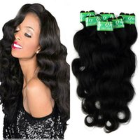 Wholesale shiny black hair online - Body Wave Peruvian Hair Extensions Color b Human Hair Bundles Tight and Shiny Direct Factory Price Bundles Inches