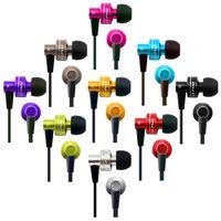 erişte kulaklık kablosu toptan satış-AWEI ES900M ES-900M Süper Bas Kulaklık Gürültü Izole Şehriye Kablo Kulak Kulaklıklar Kulaklıklar iPhone Samsung iPod Mp5 50 adet