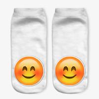 Wholesale Aliens Kid - 3D women men kids emoji short socks Children cotton Creative novelty Funny alien QQ expression smiling face socks