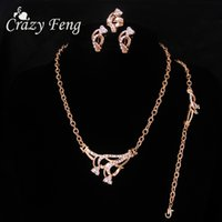 Clear CZ Stone Jewelry Sets Classic Double Heart Earrings Ring Set Rose Gold Color Indian Costume Jewlry Accesorios Mujeres
