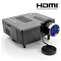 projektor uc28 hdmi großhandel-UC28 + 1080P HD 400LM 16770K tragbarer Pico führte Mini-HDMI-Videospielprojektor, Mini-Projektor des digitalen Taschenhausprojektors für 80