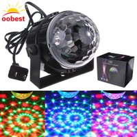 Douche De Lumière Numérique Pas Cher-Gros-RVB led scène effet lumière cristal automatique son Magic Ball Disco éclairage douche laser Projecteur party DJ club elf lampe numérique