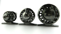 Wholesale Fishing Rafts - ALM 40 50 60 Fly Fishing Reels Front End Raft Fish Line Wheel Metal Reel With Drag Load Fishing gear real and fly reel
