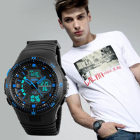 SKMEI Brand Men's Sports Analog Digital Watch Multi Função Militar S-shock Relógios LED Waterproof Wristwatches WHSKWT082