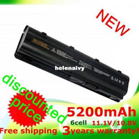 Wholesale Hp Dv3 Battery - Lowest price 5200mAh battery for HP PAVILION DM4 DV3 DV5 DV6 DV7 G4 G6 G7 G72 G62 G42 for Compaq Presario CQ32 CQ42 CQ43 CQ56 CQ62 CQ72 MU06