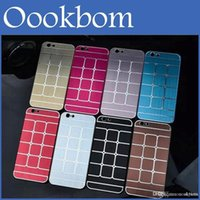Haute Qualité New Design 8 couleurs PC Metal Case style Phone Case Cover Shell pour iPhone 6 4.7