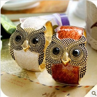 Wholesale Mixed Owl Order - Wholesale-Min. Order is $10(Can mix order)! Lovely Europe Star Vintage Red Owl Bracelets&Bangles Gold. Wholesale Various Accessories