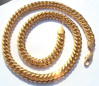 Wholesale Fine Finishing - best buy fine jewelry Heavy MENS 24K Solid Yellow Gold FILLED FINISH THICK MIAMI CUBAN LINK NECKLACE CHAIN