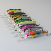 Wholesale Deep Fishing Lures - 10Pcs Lot Fishing Lure Deep Swim Hard Bait Fish 9CM 8G Artificial Baits Minnow Fishing Wobbler Japan Pesca Fishing Tackle