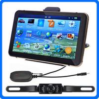 """Wholesale Night Vision China - HD 7"""" Bluetooth Car GPS Navigator+Wireless IR Night Vision Reverse Camera POI AVIN GPS Navigation System With 4GB IGO Primo Maps"""