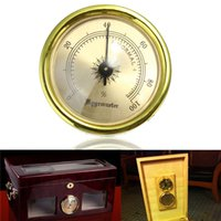 Wholesale Hot Sale Vintage GOLD Color Smoking Tobacco Hygrometer for Cigar Humidor Humidors MM order lt no track