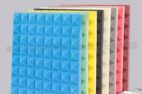 Wholesale Noise Absorption - 2017 NEW 50x50x5cm Acoustic Studio Soundproofing Foam Sound Absorption Sponge Pyramid Tile Wall Panels for Music Rooms and Noise Reduction