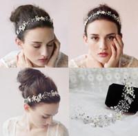 Wholesale Metal Garden Accessories - Hot Crystal Bridal Crown Tiara Wedding Jewlery Hair Band Accessories headbands Headpieces Frontlet Bohemian Silver Plated Metal Beach Garden