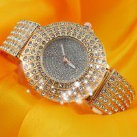 Wholesale Vintage Diamond Bracelets - Royal women rhinestone watches dress steel women watch diamond luxury brand bracelet watch for ladies crystal vintage quartz